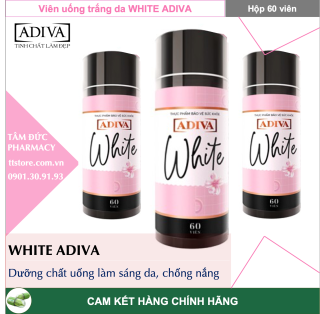 ADIVA WHITE [Hộp 60 viên] - Viên uống làm sáng da và chống nắng (White Adiva) thumbnail