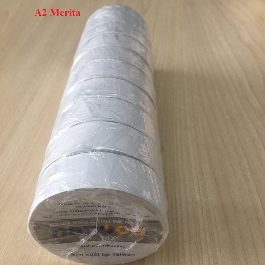 Combo 3 cây băng keo điện NANOCO 9M-10Y đủ màu sắc( 1 CÂY GỒM 10 CUỘN)