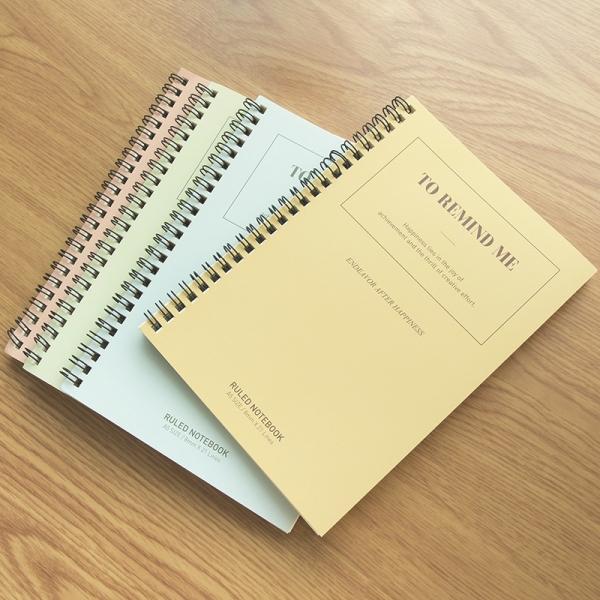 Mua Sổ tay ghi chép A5 gáy xoắn 60 trang Deli - Kẻ ngang - Màu ngẫu nhiên - LA560