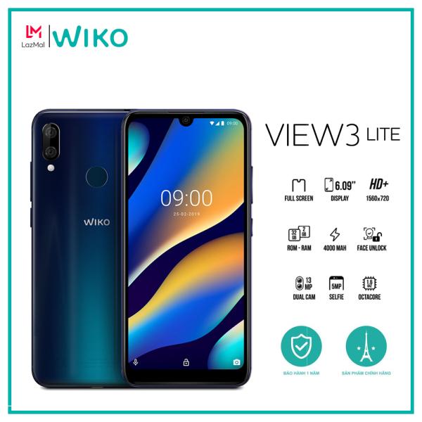Điện thoại Wiko View 3 Lite - Ram 2GB, Rom 32GB, Pin 4000 mAh, Màn hình 6.09, Camera kép, Chip 8 nhân - Hàng chính hãng