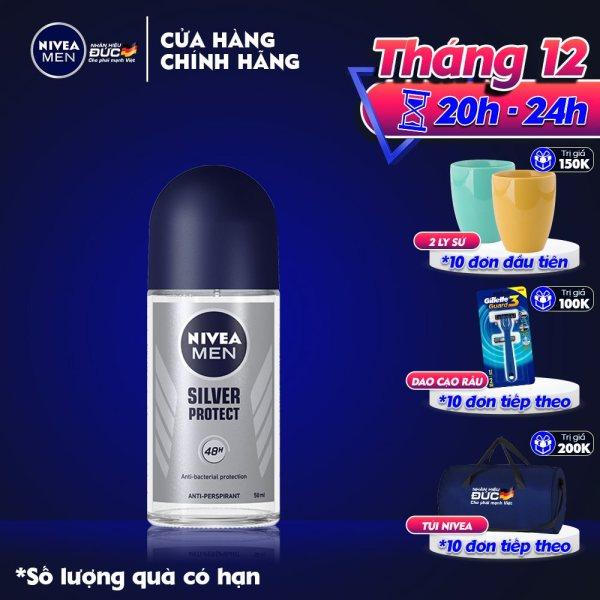 Lăn Khử Mùi Nam Phân Tử Bạc Nivea 50ml - 83778 giá rẻ