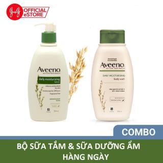 Combo sữa tắm & sữa dưỡng ẩm Aveeno người lớn 345ml x2 thumbnail