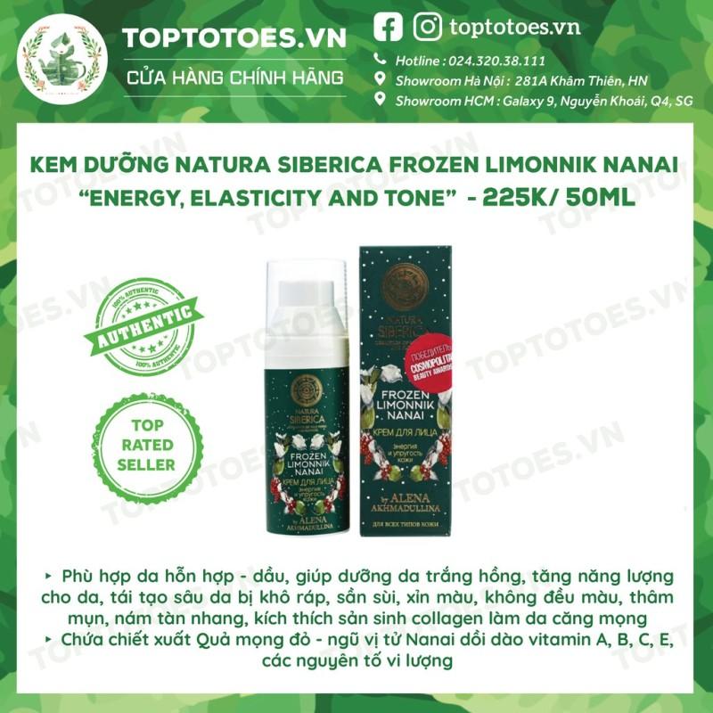 Kem dưỡng Natura Siberica Frozen Limonnik Nanai Energy, Elasticity And Tone dưỡng trắng hồng & tái tạo da