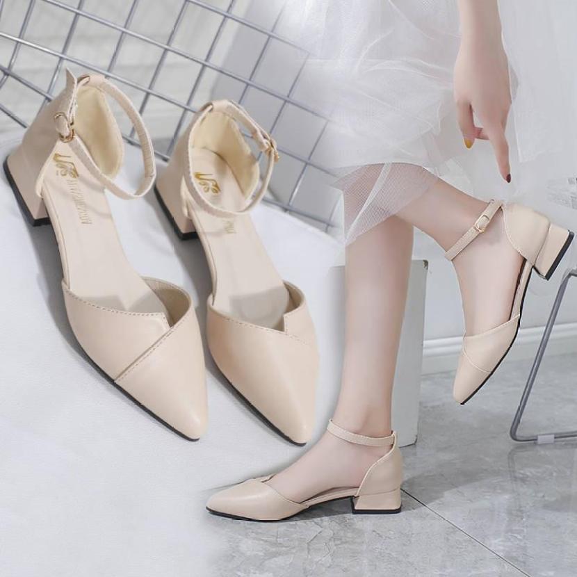Giày nữ thời trang xếp mũi 3 phân, A34 giá rẻ