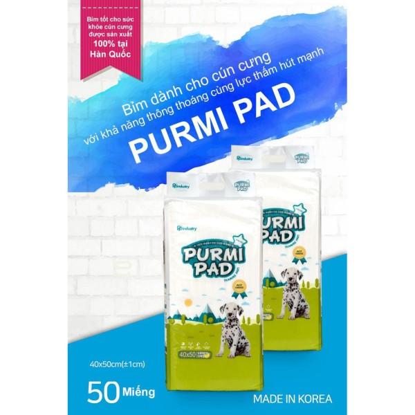 Tấm lót vệ sinh Purmi Pad (50 miếng) (Thảm lót vệ sinh, bỉm, tấm lót chuồng)