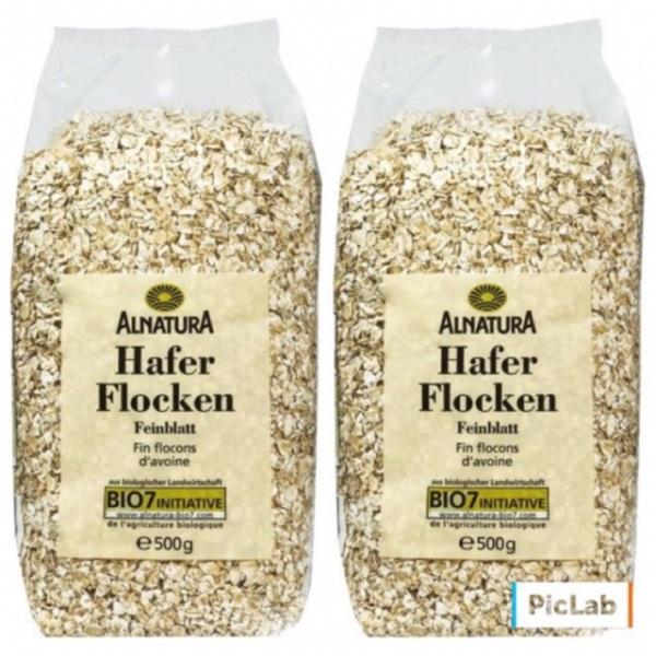 Combo 2 Túi Yến Mạch Đức Alnatura Hafer Flocken 500g (Mỗi túi 500g)