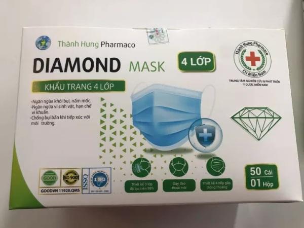 Khẩu Trang Kháng Khuẩn 4 Lớp Diamond Mask - Huy Tưởng