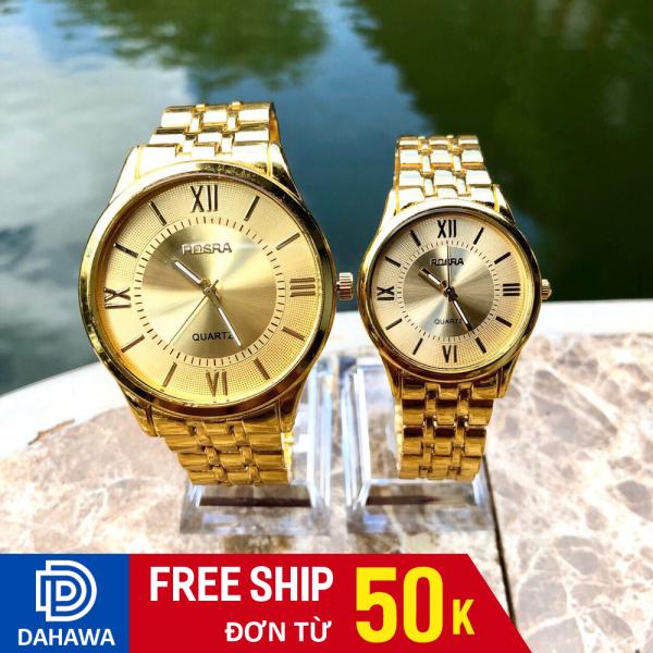 Nơi bán Đồng Hồ Quartz Thời Trang Cặp Đôi Nam Nữ ROSRA R114, Đồng Hồ Mặt La Mã Chạy 3 Kim Sang Trọng, Dây Demi Không Gỉ (Bảo hành 6 tháng )
