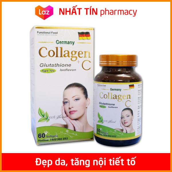 Viên uống đẹp da Collagen +C giảm thâm nám tàn nhang, ngừa nếp nhăn, chống lão hóa - Hộp 60 viên - NHẤT TÍN PHARMACY