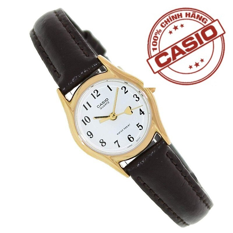 HOT-Đồng hồ nữ dây da CA$IO Anh Khuê LTP-1094Q-7B5RDF( TẶNG KÈM 1 ĐỒNG HỒ NỮ/NAM CHỐNG NƯỚC 499K ) Chính Hãng Anh Khuê - Có team chống giả và thẻ bảo hành chính hãng