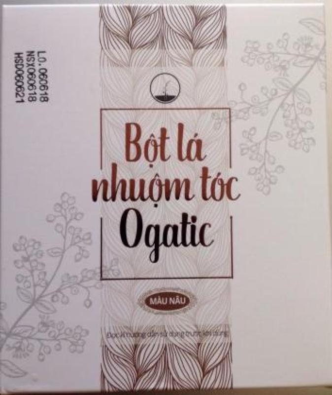 [RẺ VÔ ĐỊCH] bột lá cây nhuộm tóc bạc Ogatic - màu nâu hạt dẻ cao cấp