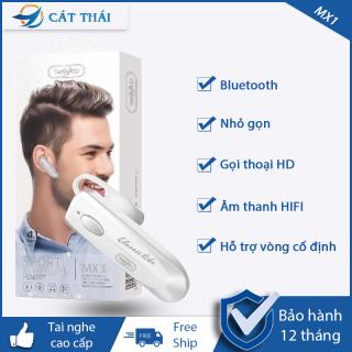 [TẶNG CÁP SẠC ]Tai nghe Sport Bluetooth 4.1 headset MX1 130mAh, tai nghe nhét tai không dây kết nối xa, sử dụng lâu, âm thanh sống động thumbnail