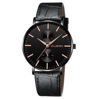 Đồng hồ nam dây da CUENA CU827 thời trang, phong cách mạnh mẽ, nam tính - đồng hồ - đồng hồ nam - đồng hồ nam dây da - đồng hò nam phong cách thumbnail