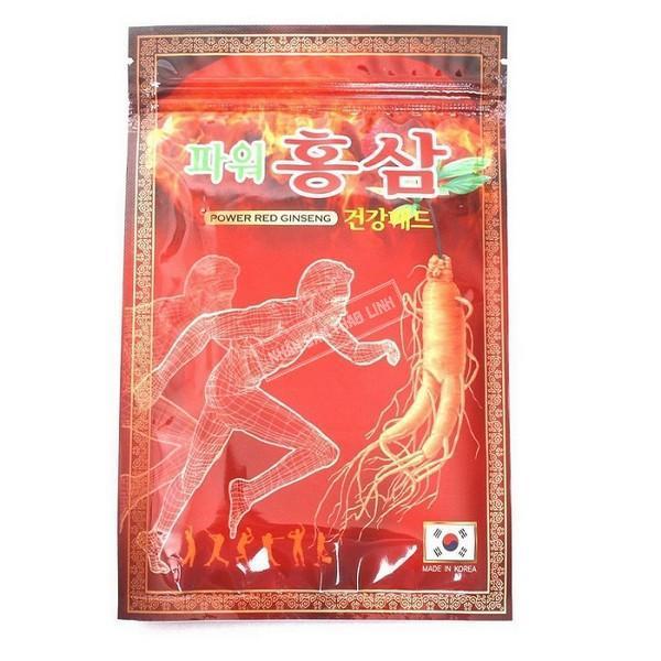Bộ 20 miếng Cao Dán Tinh Chất Hồng Sâm Hàn Quốc giảm Đau Nhức ( gói đỏ) nhập khẩu
