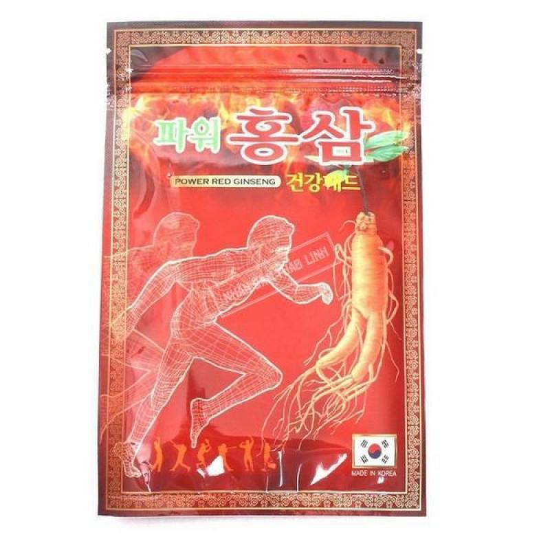 Bộ 20 miếng Cao Dán Tinh Chất Hồng Sâm Hàn Quốc giảm Đau Nhức ( gói đỏ) cao cấp