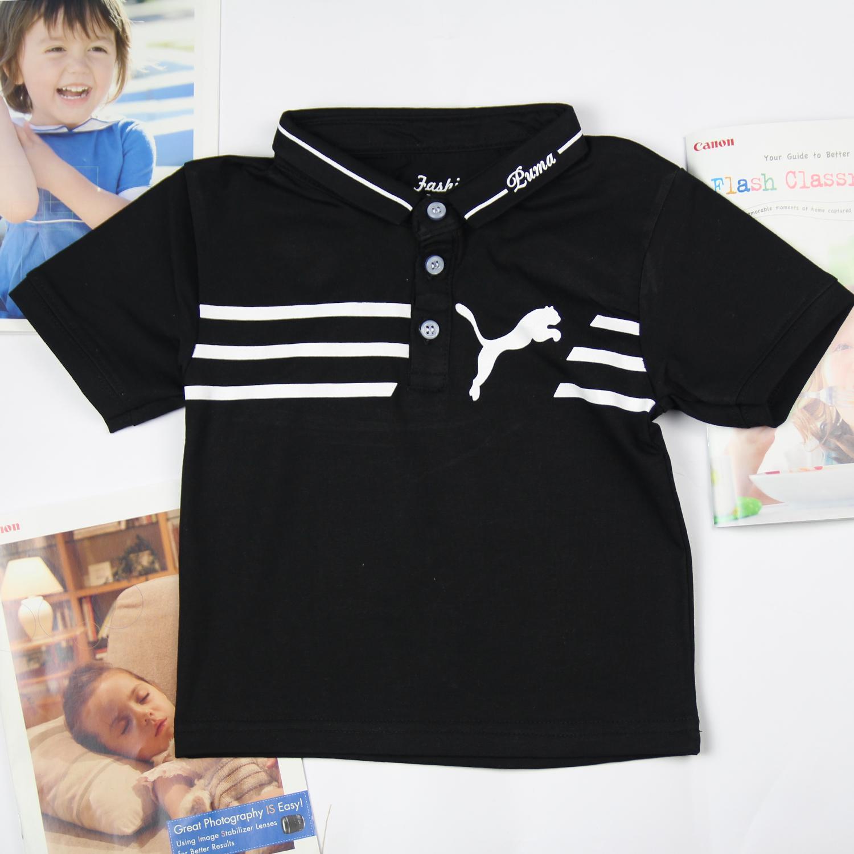 Áo thun cổ trụ cho bé trai 10-30 ký, Áo Thun Cotton Cho Bé Trai Cực Dễ Thương & Cá Tính