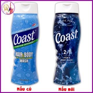 (mẫu mới) SỮA TẮM GỘI COAST HAIR & BODY 2in1 - CHUẨN MỸ U.S.A thumbnail