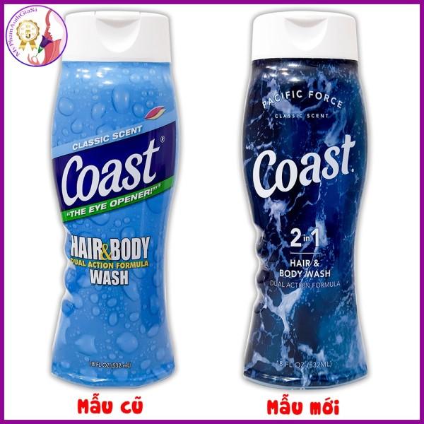 (MẪU MỚI) Sữa Tắm Gội COAST Hair & Body Wash 2 In 1 532ml MADE IN USA