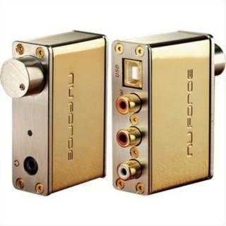 [ DAC Mạ vàng 24k- FullBox ] Giải mã số NuForce Headphone Amp, USB DAC uDAC Signature Gold Edition- cardsound USB chất lượng Hi - End cho các cặp Loa vi tính cao cấp thumbnail