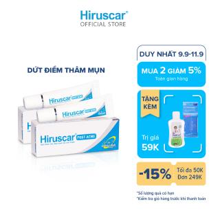 [Mua 2 giảm 5%] [Voucher 100K] Bộ 2 gel chăm sóc sẹo mụn và mụn thâm Hiruscar Post Acne 5g thumbnail