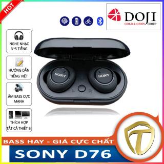 tai nghe - Tai nghe bluetooth - Headphone Có Mic - tai nghe bluetooth khong day - Tai Nghe Gaming Giá Rẻ - tai nghe buetooth - tai nghe bluetooth sony D76 cao cấp 2020 , âm bass cực mạnh,pin trâu,đàm thoại 2 chiều thumbnail