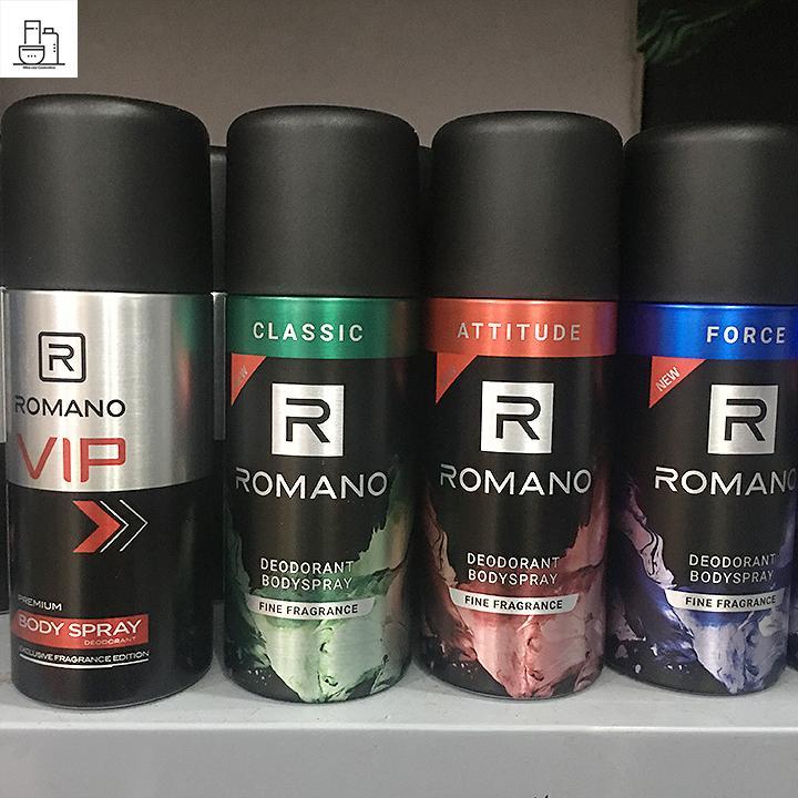 Xịt Khử Mùi Romano 150ml