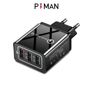 Piman Củ Sạc Nhanh Piman Chuẩn Quick Charge 3.0 18W - Củ sạc tích hợp mọi loại thiết bị và điện thoại P212 thumbnail