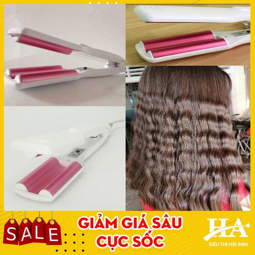 Máy uốn tóc sóng nước đẹp, máy làm tóc tạo kiểu hiện đại tiện dụng hơn máy uốn tóc xoăn, gậy uộn tóc xoăn thông thường, máy dập sóng, máy bấm tóc gợn sóng GDQUY70 tốt nhất