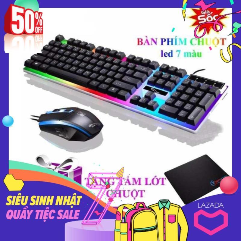 Bộ bàn phím giả cơ và chuột game dành cho game thủ NTC G21 led đa màu
