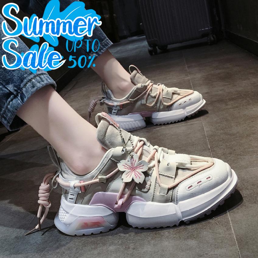 Giày sneaker nữ, giày nữ Hoa anh đào Thiết kế thể thao độc lạ Mang cực êm chân Phù hợp với mọi lứa tuổi giá rẻ
