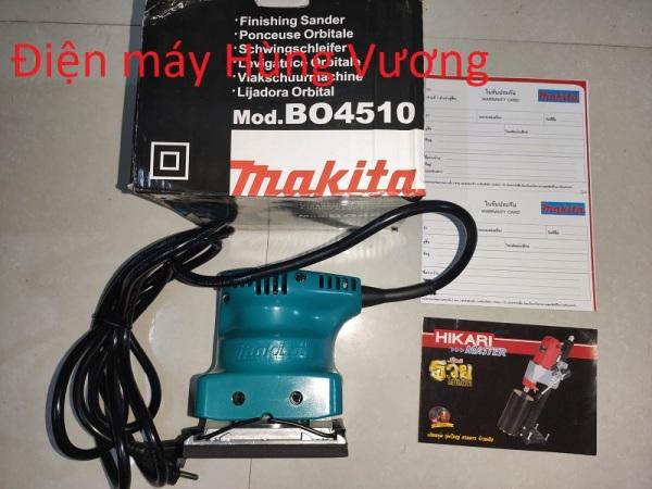 Máy chà nhám rung Makita BO4510, 200W, Made in Thái lan, dây dồng chịu nhiệt.