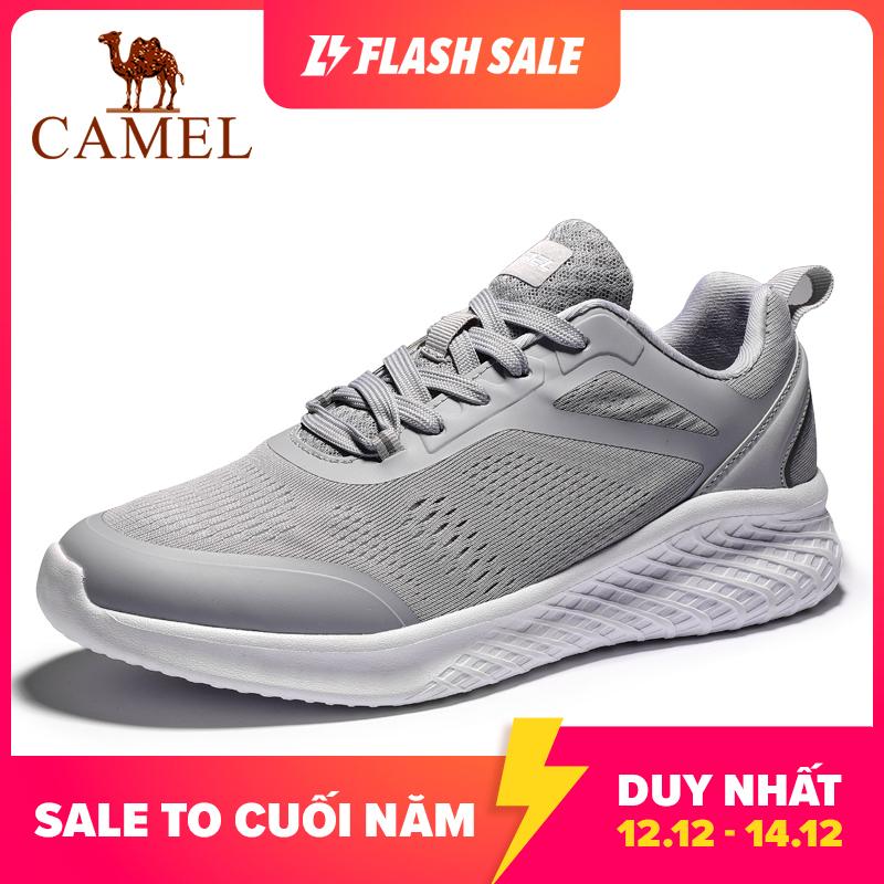 CAMEL Giày sneaker thể thao nam, phối chi tiết, lưới thoáng khí, đế công nghệ mới, êm chân - INTL