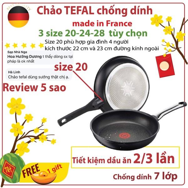 (Tặng quà đầu năm )- Chảo Tefal Talent Pro 20cm-24cm-28 cm tùy chọn - made in Pháp-  chảo chống dính loại chảo bếp từ,  tiết kiệm 1/3 lượng dầu , bề mặt 7 lớp chống dính, dùng cho máy rửa bát