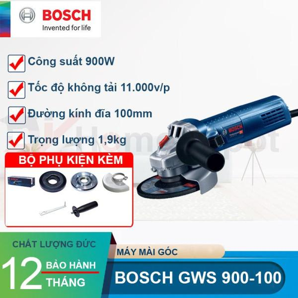 Máy Mài Góc Bosch GWS 900-100 Công suất 900W, Bảo hành điện tử 6 tháng