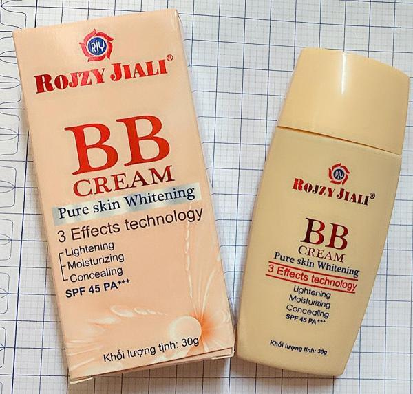 Kem Nền Che Khuyết Điểm BB Cream RojZy JiaLi ( tạo lớp nền nhẹ tênh trong suốt)  SPF 45 PA+++
