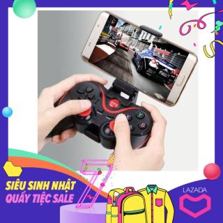 Tay Cầm Chơi Game Bluetooth Terios T3 X3 X7 Loại 1 (Có Giá Đỡ ĐT+HÀNG CÓ SẴN), Phiên bản khác của Máy Chơi Game Cầm Tay G4 Sup Game Box 400 in 1, Tay cầm chơi game, máy chơi game, nút bấm chơi game thumbnail