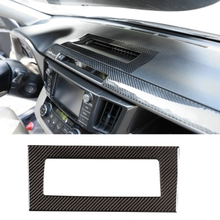 Carbon Fiber ABS Instrument Central Control Air Outlet Trim Panel Cover for Toyota RAV4 2015-2019 Car Stylings thumbnail
