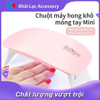 Máy hong khô sơn móng tay SUN tiện lợi mini có đèn led 6W(HỒNG) thumbnail