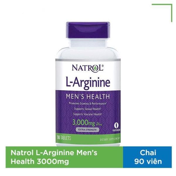 Viên uống tăng cường sinh lý nam Natrol L-Arginine Mens Health 3000mg 90 viên
