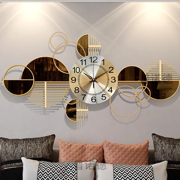 Đồng Hồ Phù Điêu hình tròn nghệ thuật - Đồng hồ treo tường đẹp decor trang trí phòng khách, phòng ngủ, spa - Quà Tân Gia bán chạy