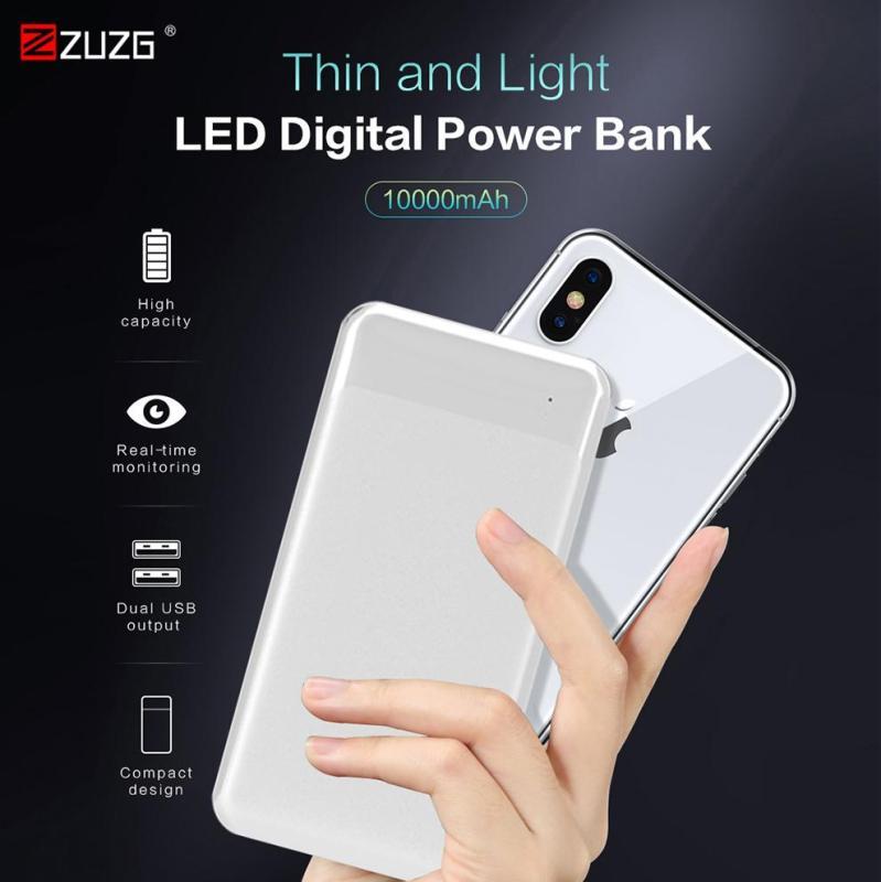Giá ZUZGSạc dự phòng ZUZG cho iPhone Samsung Huawei - cổng Type C và Micro Dual Input USB - Dung lượng 10000mAh
