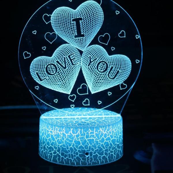 Đế đèn ngủ 3D 1 màu, 3 màu, 7 màu 16 màu điều khiển phát sáng, đế đèn led, chân đèn 3D