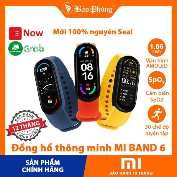 Vòng Đeo Tay Thông Minh XIAOMI Mi Band 6 theo dõi sức khỏe, màn hình cảm ứng Amoled, chống nước chuẩn 5ATM