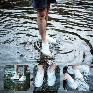 (LOẠI CAO CẤP) 01 đôi Bọc Giày Silicon Không Thấm Nước Có Thể Tái Sử Dụng Bọc Giày Đi Bộ Chống Mưa Chống Trượt 4