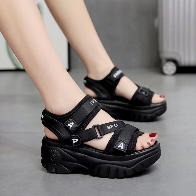 Giày sandal đế bánh mì cá tính S116D giá rẻ