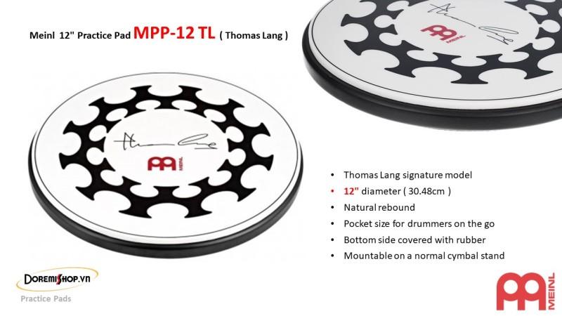 Mặt Trống Tập Meinl Practice Pad MPP-12 TL ( Thomas Lang )