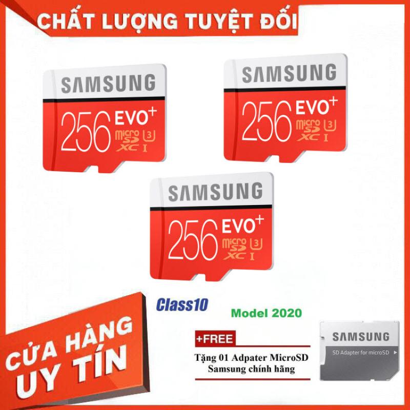 Combo 3 Thẻ nhớ MicroSD Samsung EVO Plus 4K 256GB 100MB/s 256GB Box Hoa - Hàng Chính Hãng