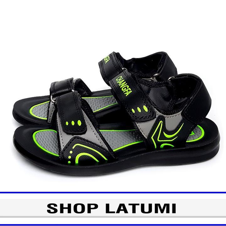 Giày Sandal trẻ em thời trang cao cấp Latumi TA2532 (Đen Phối Xanh Lá)