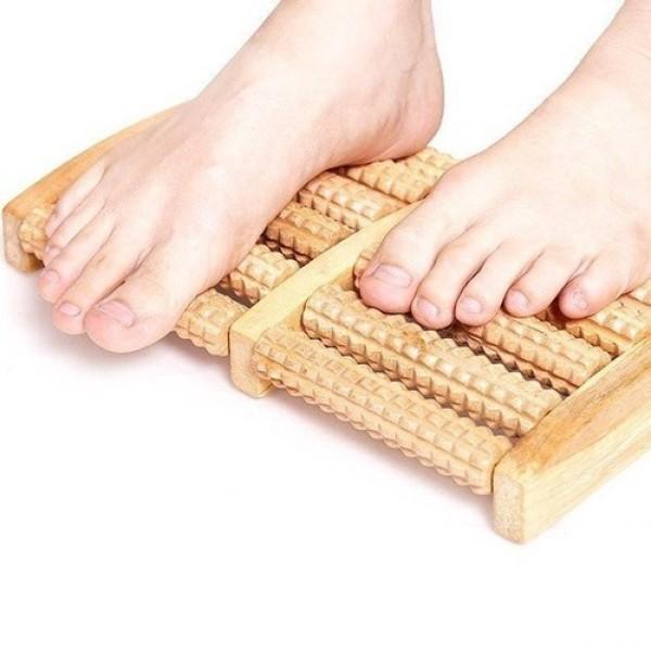 Massage chân gỗ 5 thanh- Lưu thông máu huyết chống tê chân