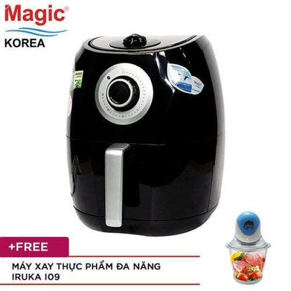 Nồi Chiên Nướng Không Dầu Dung Tích Lớn 4.4L Magic Korea A84 Tặng Máy Xay Thực Phẩm Iruka I09